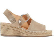 Woman Arc Suede Espadrille Wedge Sandals Sand