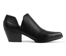 Dolores Textured-leather Boots Schwarz