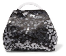 Sequin-embellished Satin And Resin Tote