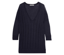 Ribbed Cashmere Top Navy
