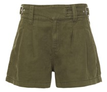 Cotton And Linen-blend Twill Shorts
