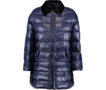 Velvet-trimmed padded shell coat