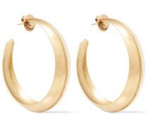 -tone Enamel Hoop Earrings