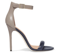 Ester Two-tone Leather Sandals Grau