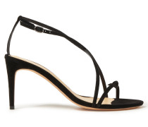 Anastassia 75 Knotted Suede Sandals