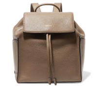 Textured-leather Backpack Champignon