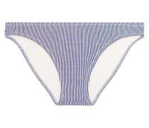 Valentina Low-rise Striped Bikini Briefs Mitternachtsblau