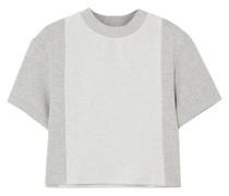 Sunnyside Meliertes Cropped T-shirt aus Frottee aus Einer Baumwollmischung
