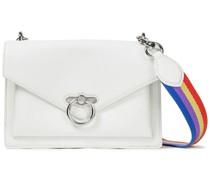 Jean Color-block Leather Shoulder Bag