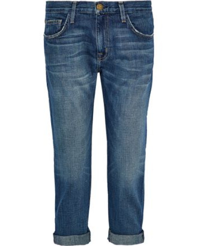 Cropped Low-rise Straight-leg Jeans Mid Denim  4