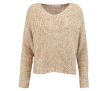 Morelle Metallic Knitted Sweater Sand