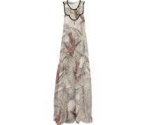 Embellished Printed Silk-chiffon Gown Mehrfarbig