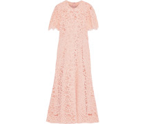 Woman Corded Lace Midi Dress Baby Pink
