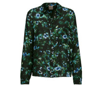 To Jj With Love Floral-print Silk Crepe De Chine Blouse Mehrfarbig