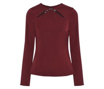 Violetta Cutout Ring-embellished Stretch-crepe Top