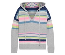 Striped Cashmere Hoodie