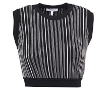 Eugenia Cropped Striped Jacquard-knit Top