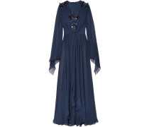Embellished Silk-chiffon Gown
