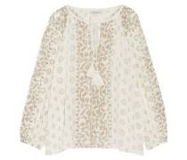 Jarod printed cotton-gauze blouse