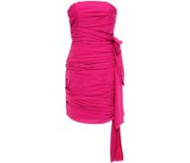 Etty Trägerloses Minikleid aus Stretch-crêpe mit Drapierung