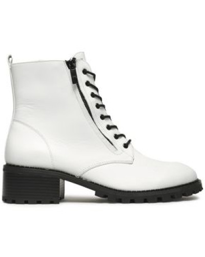 Lois Leather Ankle Boots White