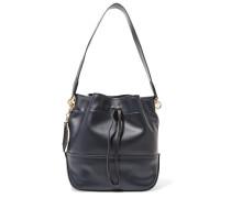 Leather Shoulder Bag Mitternachtsblau