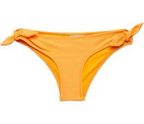 Knotted Neon Piqué Low-rise Bikini Briefs