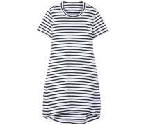 Dixie Cutout Striped Cotton-jersey Mini Dress
