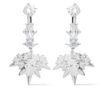 Stahlgraue Ohrringe mit Kristallen