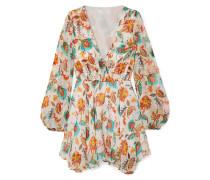 Olena Floral-print Silk-chiffon Mini Dress