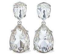 Rhodinierte Ohrringe mit Kristallen