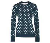 Shane Polka-dot Intarsia-knit Silk Sweater Petrol