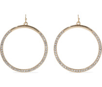 22-karat -plated Crystal Hoop Earrings