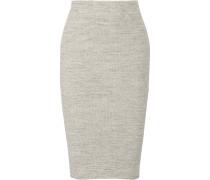 Ribbed Stretch-cotton Skirt Hellgrau