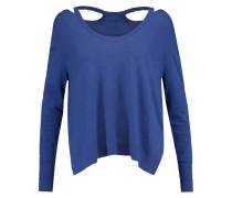 Cutout Stretch-knit Sweater Königsblau