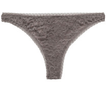 Baci Salve Corded Lace Low-rise Thong