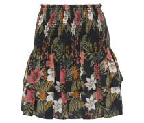 Amari Tiered Floral-print Cotton-broadcloth Mini Skirt