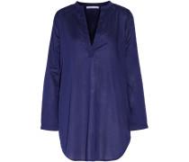 Cotton-broadcloth Nightshirt Mitternachtsblau