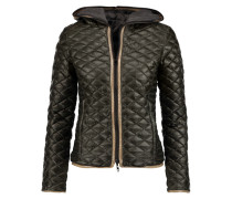 Peito Reversible Quilted Shell Hooded Down Coat Armeegrün