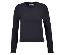 Sabriel Ribbed Cotton-blend Sweater Mitternachtsblau