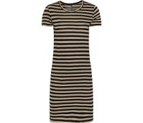 Striped Pima Cotton-jersey Mini Dress Beige