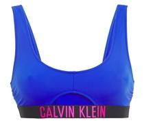 Bikini-oberteil mit Cut-outs und Monogrammbesatz