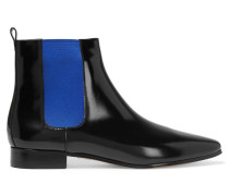 Luca Polished-leather Boots Schwarz