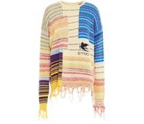 Pullover aus Jacquard-strick aus Einer Baumwollmischung mit Fransen
