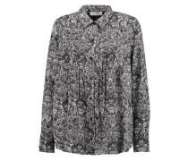 Headow pleated printed crepe de chine blouse