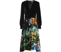 Theresa Belted Printed Velvet Dress