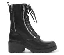 Richardson Zip-embellished Leather Ankle Boots Schwarz