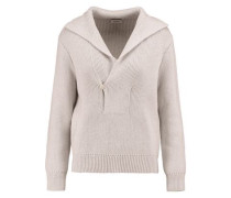 Runa ribbed merino wool and cotton-blend sweater