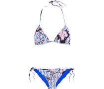 Printed Triangle Bikini Mehrfarbig