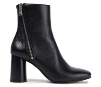 Avril Pebbled-leather Ankle Boots